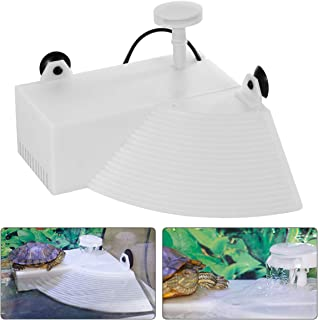 K1-Store Turtle Floating Dock with Built-in Filter Low Level Water Clean Pump for Reptiles Turtle and Fish Tanks Aquarium Filter 3W (200L/H)