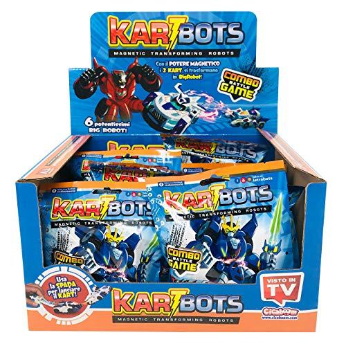 CICABOOM Display 12 Sobres KARTBOTS Magnetic Transforming Robots Combo Battle Game Juguetes Animales niños Letrabots / Versión en Italiano