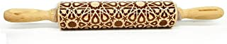 Christmas Rolling Pin Embossing Rrolling Pin Embossed Patterned Textured Wooden Rolling Pin Xmas Decorative Baking Equipme...
