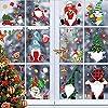 113枚 クリスマス 雪の結晶 サンタクロース ガラス用ステッカー クリスマスデカール デコレーション ホリデー 雪の結晶 サンタクロース トナカイ デカール パーティー用品 9枚
