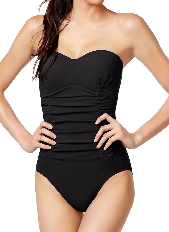 Gottex Surplice VNeck Draped Tutti Frutti Slimming One Piece Swimsuit Black 8