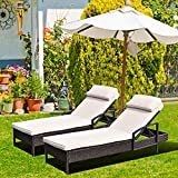 Best Pool Chairs - Patiojoy Patio Reclining Chaise Lounge, Outdoor Beach Pool Review