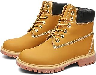 أحذية رجالية عصرية من الجلد ضد الماء حتى الكاحل برباط كاجوال أحذية قتالية قصيرة، أحذية عمل جلدية للرجال