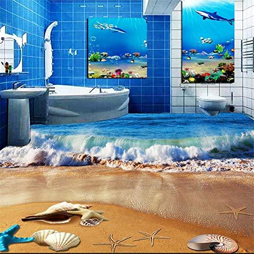 Wallpaper Mural Wall Stickers Beach Sandwich Bathroom 3D Floorwallpaper - Papel de pared para pared
