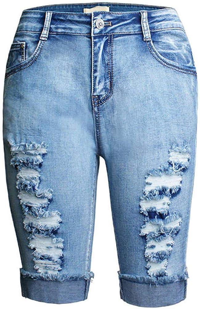 Kehen Women Regular Distressed Denim Jean Shorts