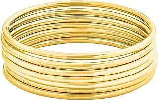 18k gold bangles
