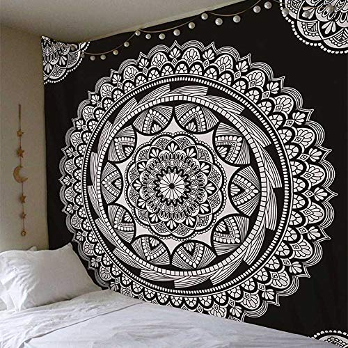 QZXCD Wandtapijt, Indian Mandala wandtapijt, wandtapijt, sandy, strand, tapijt, deken, camping, tent, reismatras, isomat, mandala tapijt, tapijt, tapijt, tapijt, Indian Mandala 200cmX140cm W