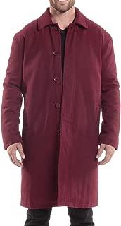 Zach Mens Wool Trench Coat Knee Length Overcoat