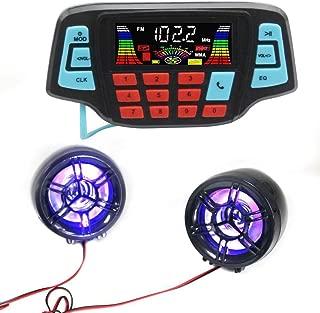 UKSAT Motorcycle Speaker Waterproof Anti Theft Sound Mp3 Player Bluetooth LCD Screen Fm Radio Stereo Built in Alarm-in Motorcycle Audio