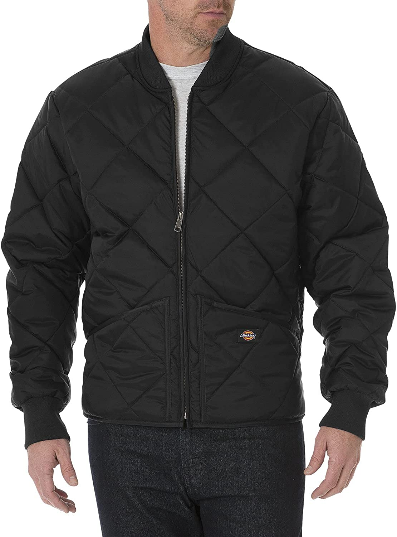 Dickies Men's Diamond Quilted Nylon Jacket Big-Tall