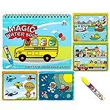 Sipobuy Magic Water Drawing Book Agua Libro para Colorear Doodle con Magic Pen Tablero de Pintura para niños Educación...