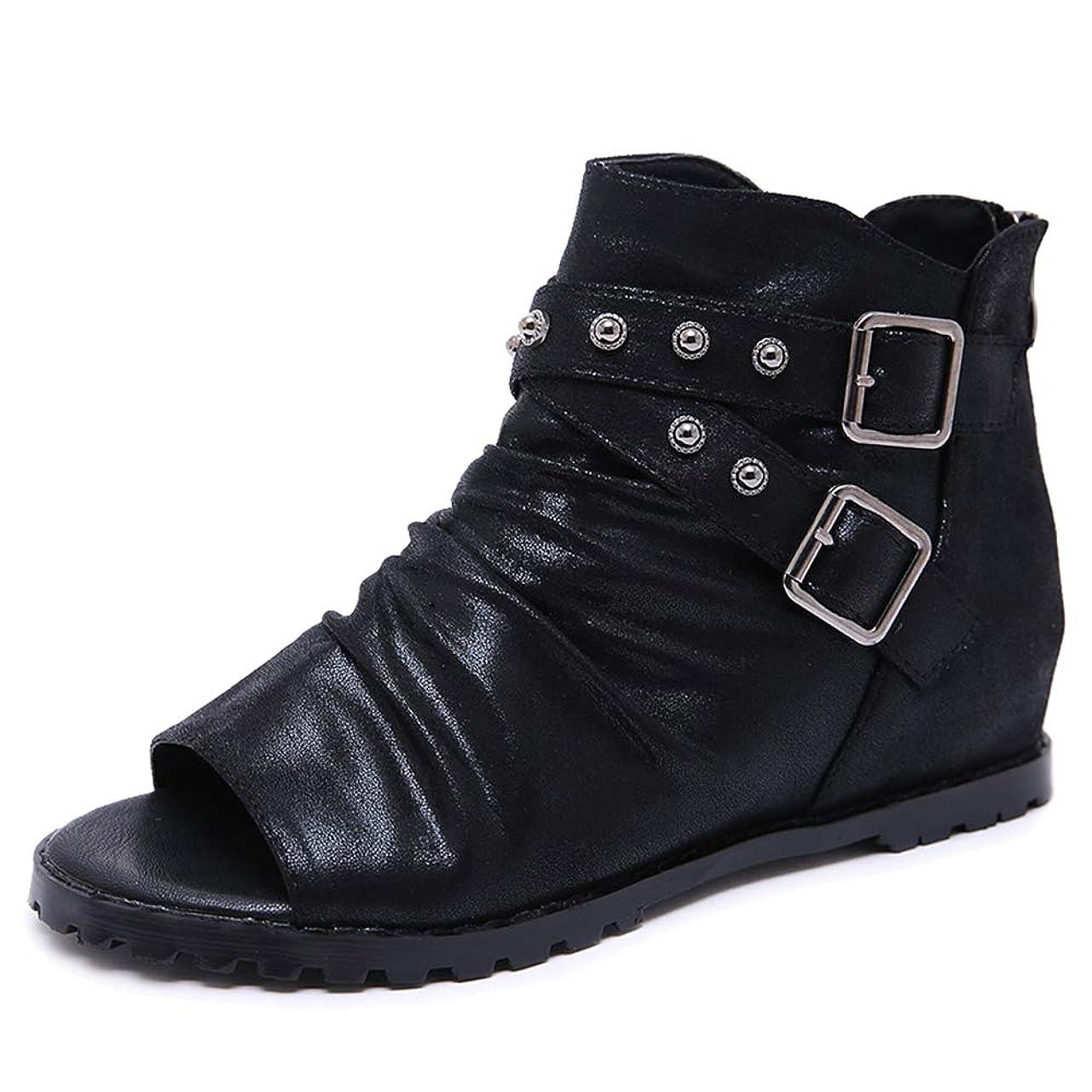 静けさシートストロー[Lydee] レディース クラシック 夏靴 ハイトップ グラディエーター サンダル