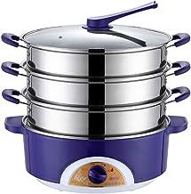 JHYS Cuiseur à Vapeur en Acier Inoxydable, 304 en Acier Inoxydable mijoteuse cuiseur Vapeur Pot Chauffe-Aliments Chauffe-A...