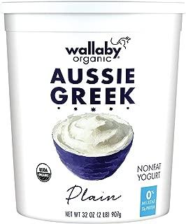 Wallaby Organic, Non Fat Greek Yogurt, Plain, 32 oz