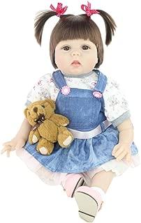 bromrefulgenc Reborn Baby Doll,Lifelike Realistic Newborn Baby,55cm Silicone Newborn Baby Girl Simulation Doll Children Play House Toy Gift