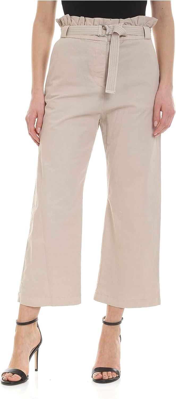 PINKO Women's 1X10FYY5DQC36 Beige Cotton Pants