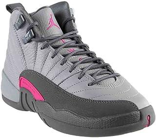 df6a7bccc950 NIKE Air Jordan 12 Retro GG Basketball Sneaker White Gray