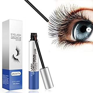 Yovk Eyelash Growth Serum Best Natural Eyelash and Eyebrow Enhancer Lash Growth Serum Fast Effective Growth Booster for Longer, Thicker and Fuller Eyelashes - 5 ML
