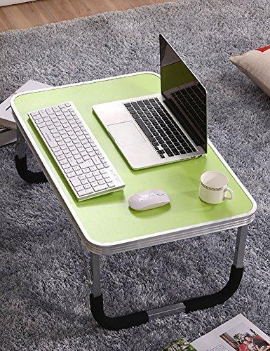 Étude Simple de dortoir Petit Bureau Table d'ordinateur Portable Pliante (6 Couleurs Disponibles) (Couleur : F, Taille : L*W*H:71 * 48 * 29cm)