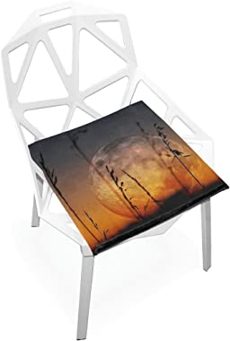 Seat Cushion Chair Cushions Covers Set Artistic Earth Decorative Indoor Outdoor Velvet Double Printing Design Soft Seat Cushi