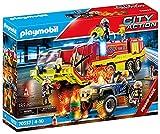 PLAYMOBIL City Action 70557 Operación de Rescate con Camión de Bomberos, Incluye Efecto de luz y Sonido, para niños de 4 a 10 años