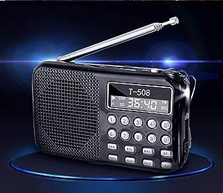 $30 » TORENG Mini Portable Dual Band Rechargeable Digital LED Display Panel Stereo FM Radio Speaker USB TF Mirco for SD Card MP3...