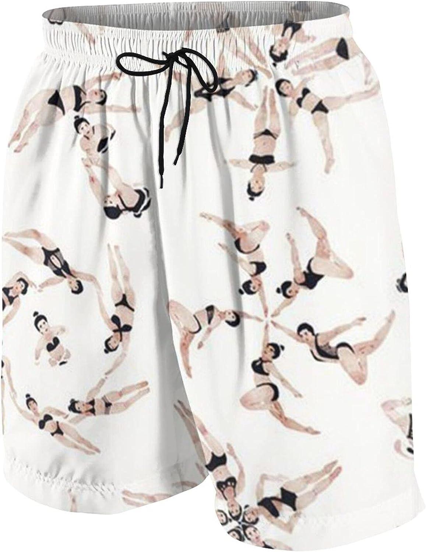 QUZtww Teen Boys Boardshorts Swinmming Diving Girl Surf Trunks Breathable Beach Pants Casual Beach Shorts