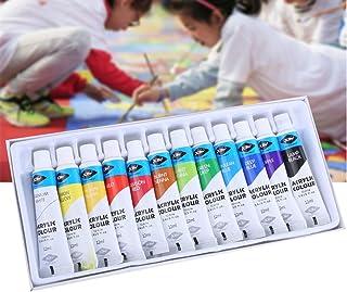 Coxeer 12PCS Acrylic Paint Set Lovely Watercolor Paint Set DIY Watercolor Paint for Kid