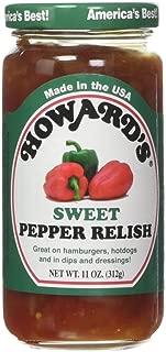 Howard's Sweet Pepper Relish,11 oz (Pack of 2)