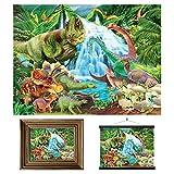 3D LiveLife Lenticular Cuadros Decoración - Dino en la montaña de Deluxebase. Poster 3D sin marco del jurásico. Obra de arte original con licencia del reconocido artista, Michael Searle