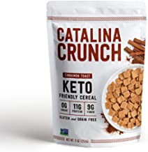 Catalina Crunch Cinnamon Toast Keto Cereal (9oz Bag)   Low Carb, Sugar Free, Gluten Free, Grain Free   Keto Snacks, Vegan, Plant Based Protein   Breakfast Cereals   Keto Friendly Food
