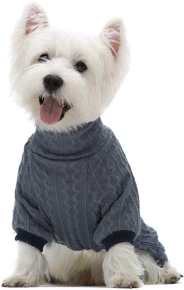 Fitwarm [Alternative dealer] Manufacturer regenerated product Turtleneck Knitted Dog Knitwear Sweaters Winter Outfits