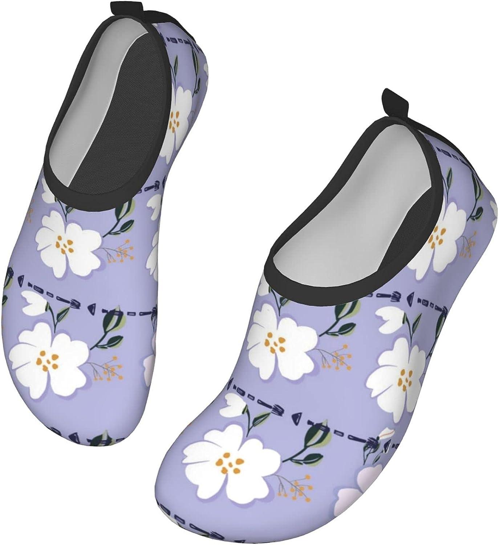 Flower Simplicity Mens Womens Quick Dry Barefoot Beach Pool Swim Diving Surf Aqua Sports Walking Yoga Water Shoes