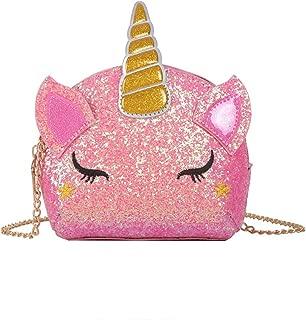 Glitter Sequin Unicorn Crossbody Purses Handbag Shoulder Bag Messenger Gifts for Toddlers Little Girls