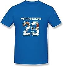 SALA Men's Maya Moore No 23 2015 Basketball MVP FMVP Logo T-Shirts Black