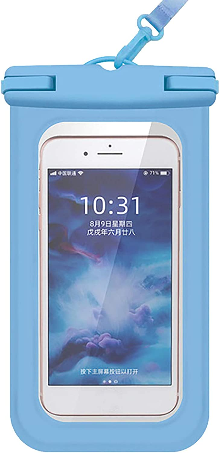 ZHANSANFM Floating Waterproof Phone Case Waterproof Pouch Cell Phone Dry Bag for Phone Blue