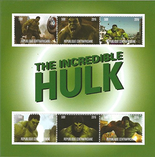 Collezione francobolli–incredibile Hulk Marvel DC Comics Movie Mnh stamp Minifoglio 2016