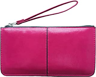 iToolai Women's Solid Color PU Leather Wristlet Clutches Purse Wallet Credit ID Cards Holder