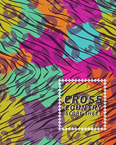 Cross Country Score Sheet: Professional Cross Country Scoring Sheet, Score Sheet Notebook for Outdoor Games, Gifts for Runners, Horse Riders, ... 110 Pages. (Cross Country Scorebook, Band 13)