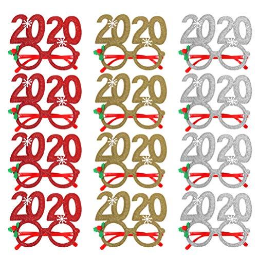Amosfun 2020 año Nuevo Gafas Marco Navidad Gafas Novedad Gafas de Sol Fiesta...