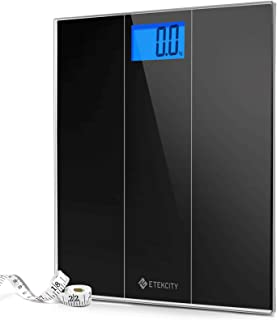 Etekcity Digital Body Weight Bathroom Scale with Step-On Technology, 400 Pounds, Body Tape Measure Included, Elegant Black...