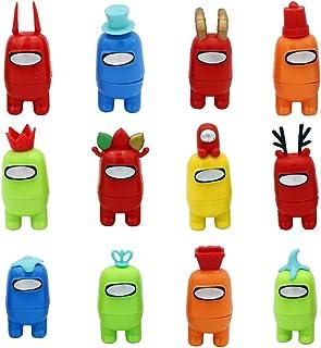 12 st Among Us produktstatyett, mini söta spelfigurer plast kreativa leksaker avtagbara bland oss dockor ornament födelsed...