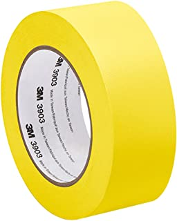 3M 3903 Vinyl Duct Tape - 2 in. x 150 ft. Yellow Rubber Adhesive Tape Roll with Abrasion, Chemical Resistance. Sealing Tapes