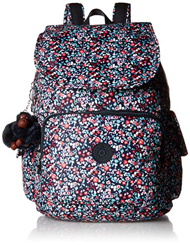Kipling Women's City Pack Medium, Adjustable Backpack Straps, Zip Closure, covid 19 (Kipling Print Backpack coronavirus)