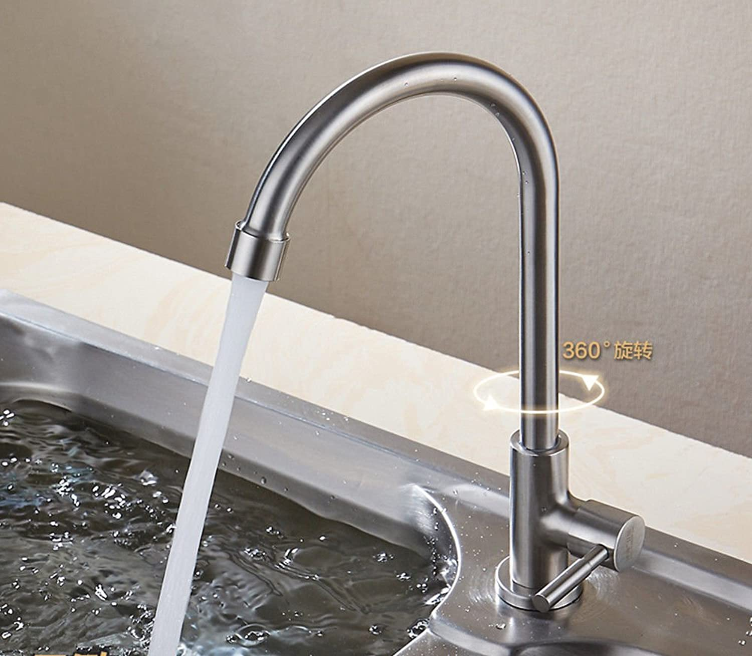Lpophy Bathroom Sink Mixer Taps Faucet Bath Waterfall Cold and Hot Water Tap for Washroom Bathroom and Kitchen Hot and Cold Stainless Steel C Single Cold Bend