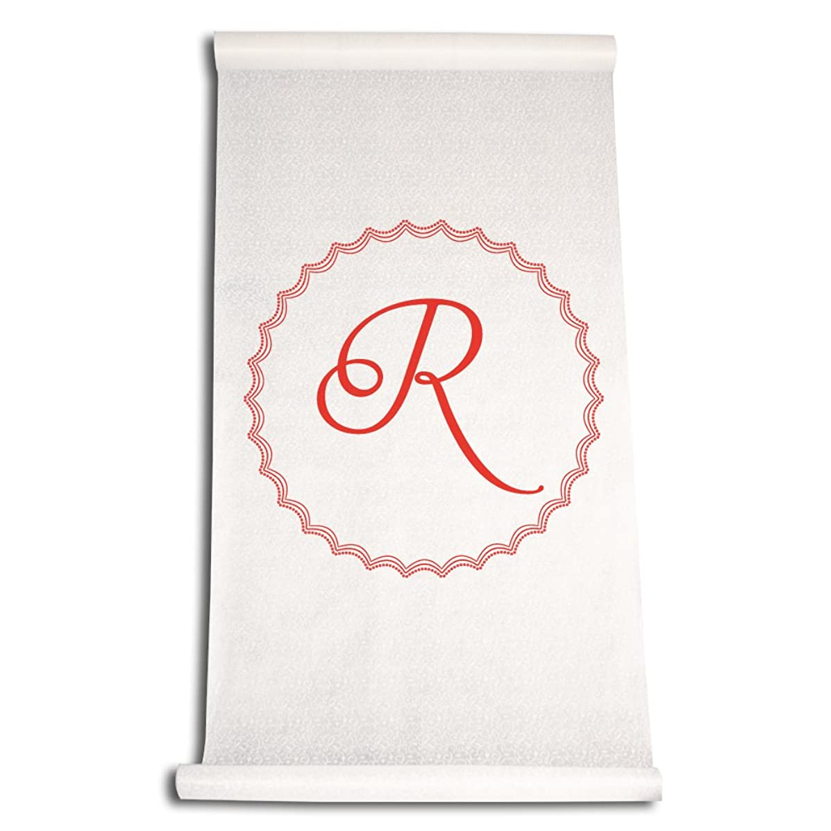 Ivy Lane Design Wedding Accessories Aisle Runner with Initial, Letter R, Red