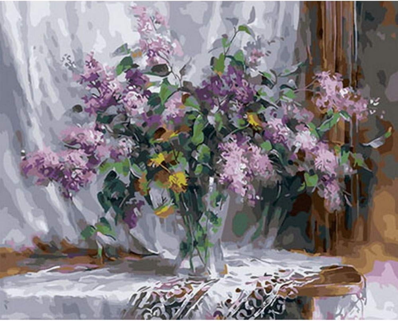 tomar hasta un 70% de descuento Cuadro pinturas al óleo por números flores pintura pintura pintura decoración de la parojo pintura DIY sobre lienzocm bodegón 40x50cm Enmarcado  comprar mejor