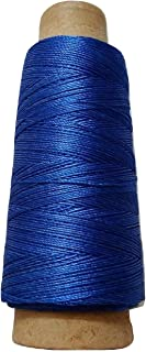 Desi Hawker 275+ Yards - Viscose Rayon Art Silk Thread Yarn - Embroidery Crochet Knitting Lace Jewelry Trim (Iris Blue)