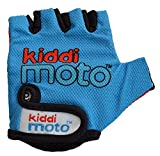 KIDDIMOTO GLV007M Children Cycling Gloves Breathable Half Finger Non-slip for Kids Bicycle, Balance Bike, Scooter, and Skateboard / Gloves for Girls and Boys - Blue - Small (2-5 years)