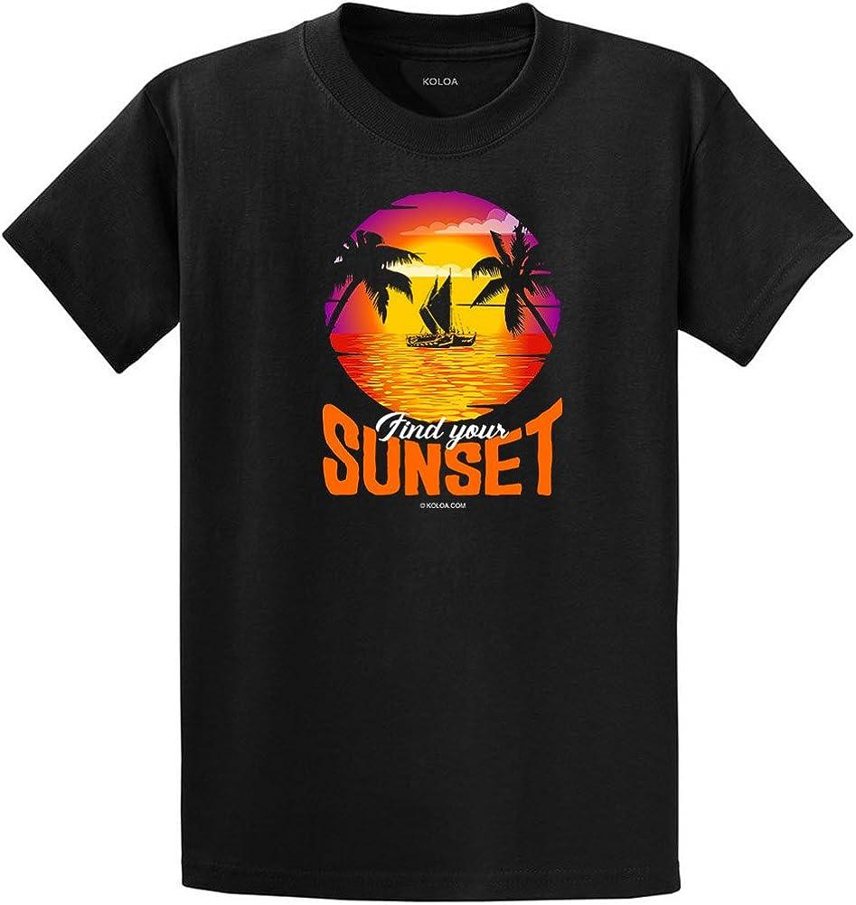 Koloa Surf Find Your Sunset Catamaran Tee-Tall-2XLT-Black/c